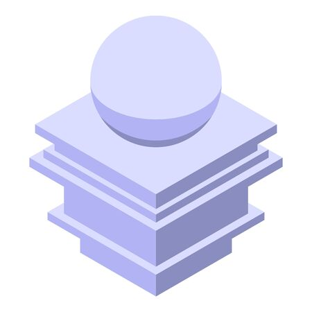 Sphere pillar icon. Isometric of sphere pillar vector icon for web design isolated on white background