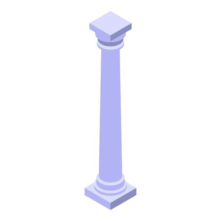 Old column icon, isometric style