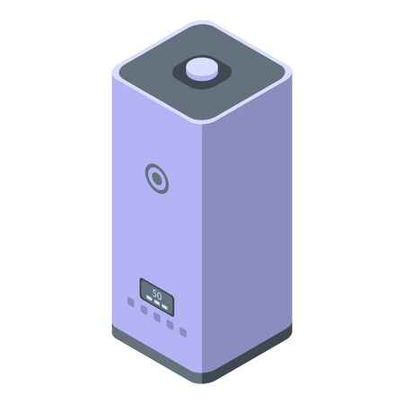 Humidifier icon. Isometric of humidifier vector icon for web design isolated on white background