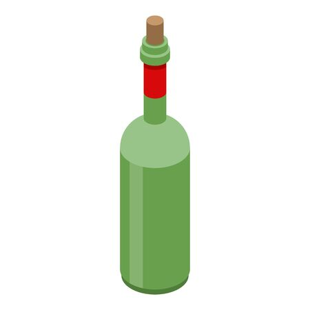 Vinegar bottle icon. Isometric of vinegar bottle vector icon for web design isolated on white background