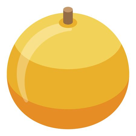 Yellow apple icon. Isometric of yellow apple vector icon for web design isolated on white background Illustration