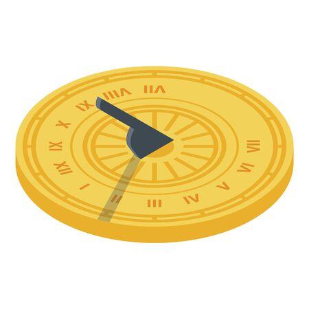 Sundial icon, isometric style