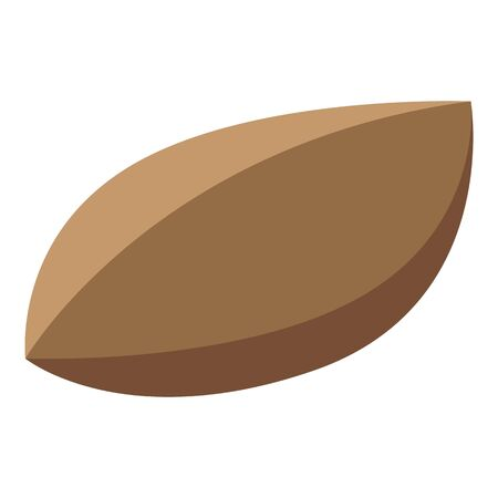 Persimmon seed icon, isometric style Stock Illustratie