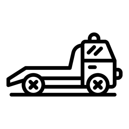 Service tow truck icon, outline style