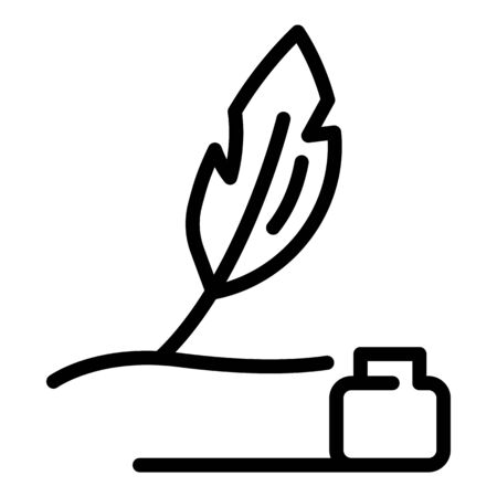 Pen and ink icon, outline style