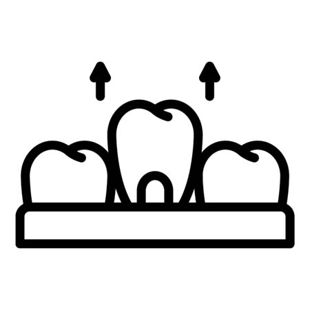 Removal of a tooth icon, outline style
