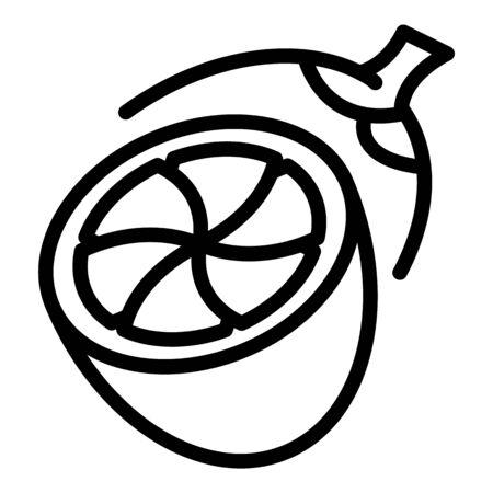 Half lemon icon, outline style