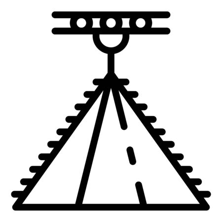 Roof construction icon, outline style