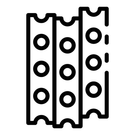 Construction metal bars icon, outline style