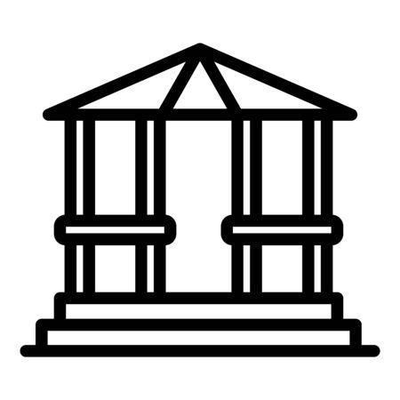 Arbor gazebo icon, outline style