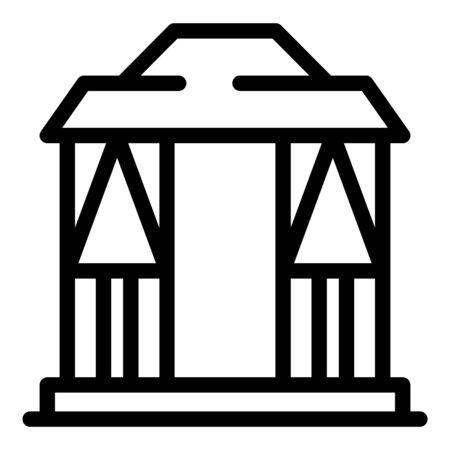 Pergola gazebo icon, outline style