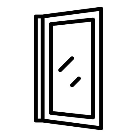 Install window icon, outline style Ilustração
