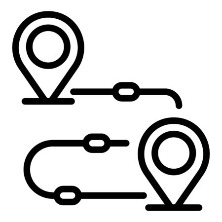 Goal achievement route icon, outline style Stock Illustratie