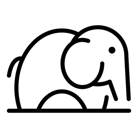 Baby elephant icon. Outline baby elephant vector icon for web design isolated on white background