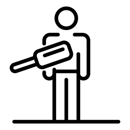Scan airport person icon, outline style