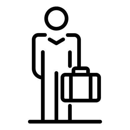 Travel man icon, outline style