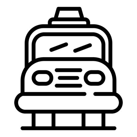 Car airport bags icon, outline style