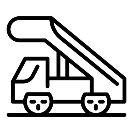 Airplane trap truck icon, outline style