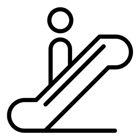 Airport escalator icon, outline style