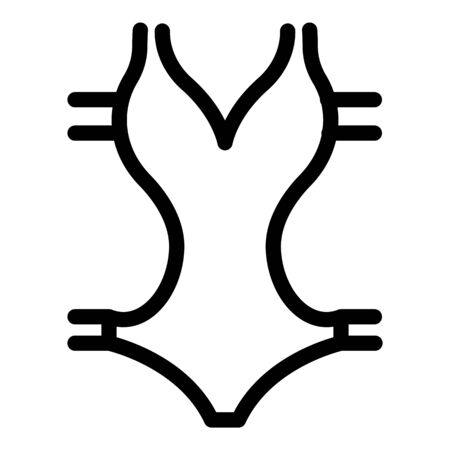 Design swimsuit icon, outline style