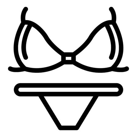 Underwear swimsuit icon, outline style Vettoriali