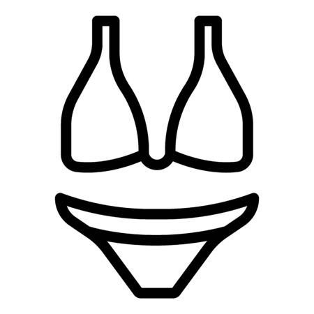 Swimwear icon, outline style Illustration