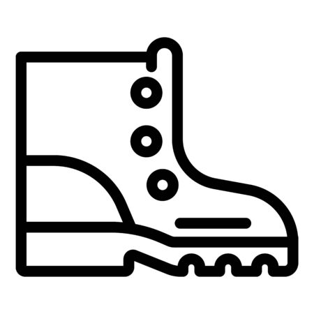 Hiking boot icon, outline style Çizim