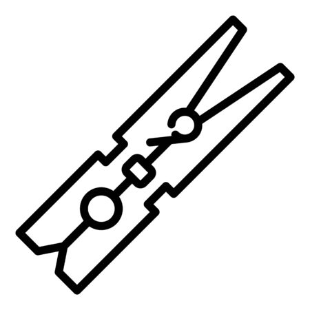 Clothes pin equipment icon, outline style