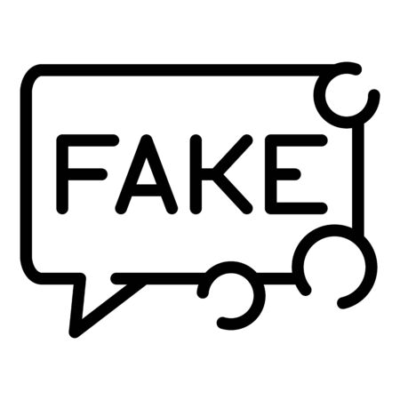 Fake news chat icon, outline style