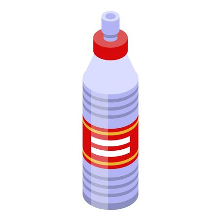 Construction bottle liquid icon, isometric style
