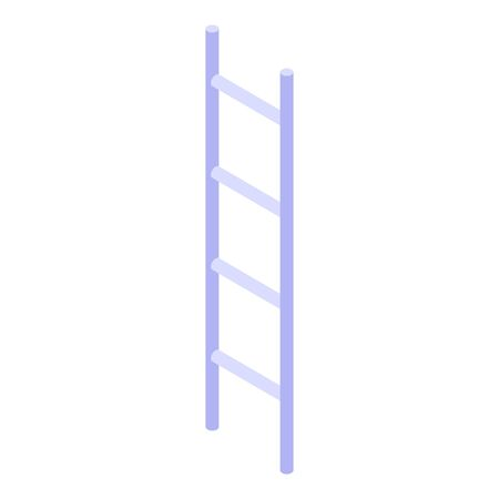 Steel ladder icon. Isometric of steel ladder vector icon for web design isolated on white background  イラスト・ベクター素材