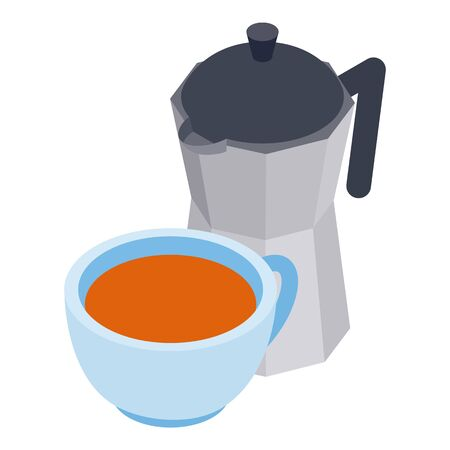 Italian coffee icon. Isometric illustration of italian coffee vector icon for web