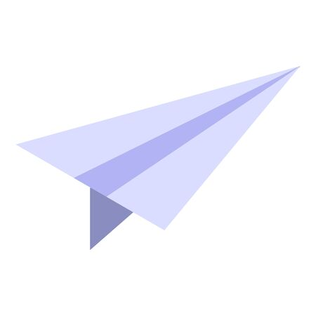 Paper airplane icon, isometric style
