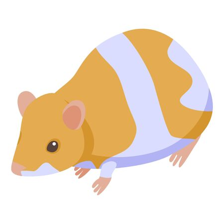 Home mice icon, isometric style  イラスト・ベクター素材