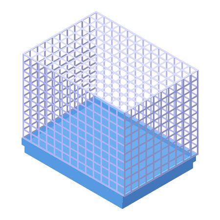 Hamster cage icon. Isometric of hamster cage vector icon for web design isolated on white background
