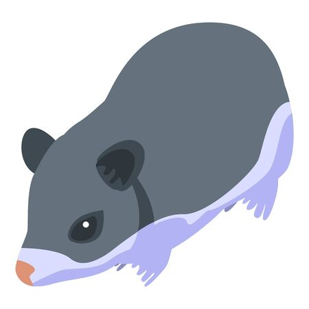 Animal hamster icon. Isometric of animal hamster vector icon for web design isolated on white background