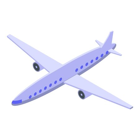 Airplane icon. Isometric of airplane vector icon for web design isolated on white background