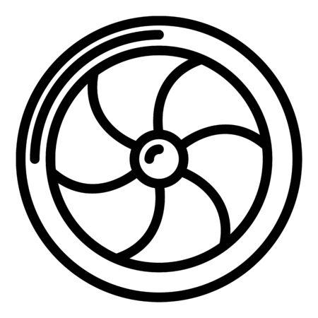 Aviation turbine icon, outline style Illustration