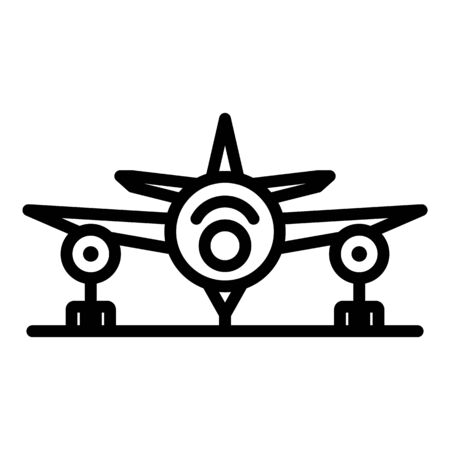 Airplane after repair icon, outline style