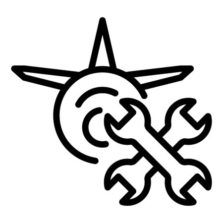 Aviation repair service icon, outline style