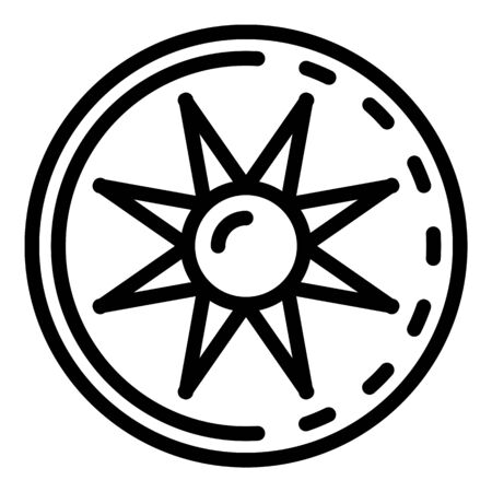 Aircraft repair symbol icon, outline style