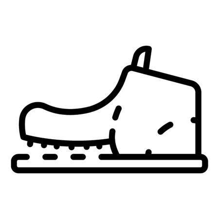 Shoe need repair icon, outline style