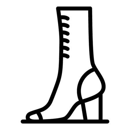 Woman shoe repair icon, outline style 일러스트