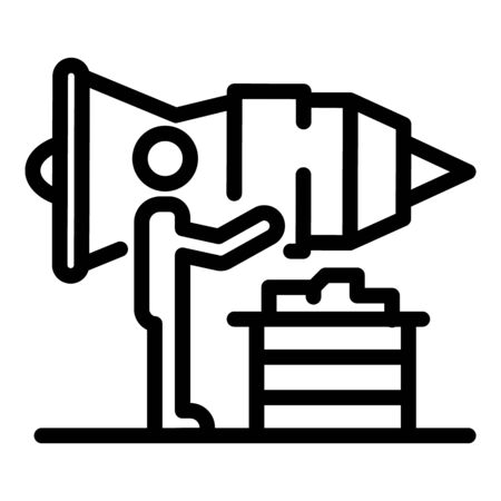 Turbine aircraft repair icon, outline style