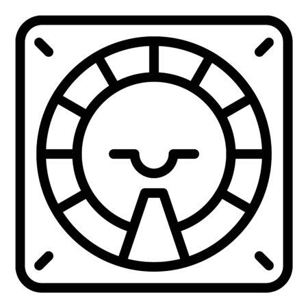 Aircraft radar repair icon, outline style
