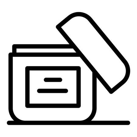 Shoe polish cream icon, outline style