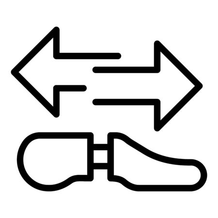 Shoe repair service icon, outline style Vector Illustration