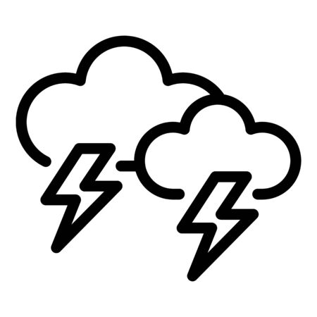 Storm clouds icon, outline style 向量圖像