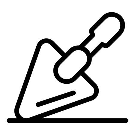 Trowel icon, outline style Ilustracja