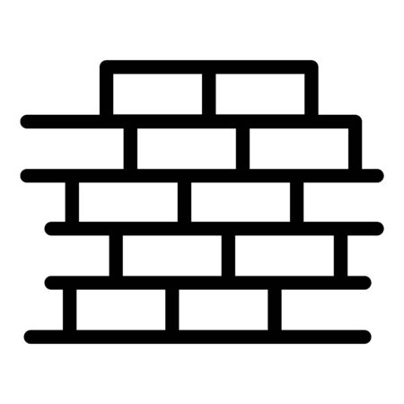 Brick wall icon, outline style